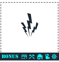 Lightning icon flat vector image