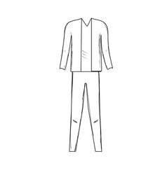 line cute man elegant wear design vector image