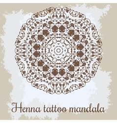 Mandala beautiful hand-drawn floral round ornament vector