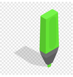 marker isometric icon vector image vector image