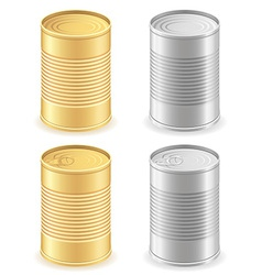 metal tin can 01 vector image vector image