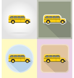 Old retro transport flat icons 13 vector