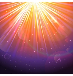 Orange and purple Lights background vector image