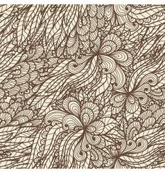 Seamless floral vintage doodle pattern vector