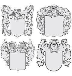 set of aristocratic emblems No6 vector image