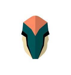 set of super hero masks in flat style big vector image