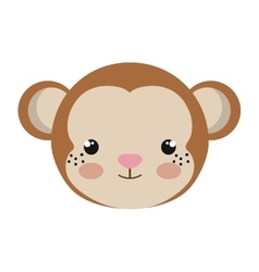 Monkey animal cartoon vector