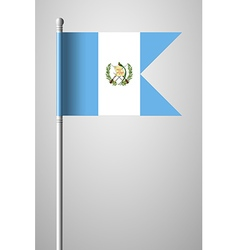 Flag of guatemala national flag on flagpole vector