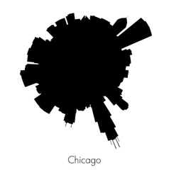 Chicago circular skyline vector