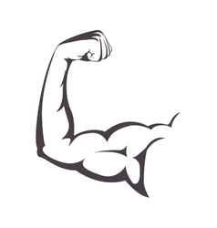 Muscular arm with a clenched fist vector