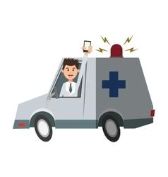 Isolated ambulance design vector