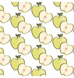 Green apple pattern vector