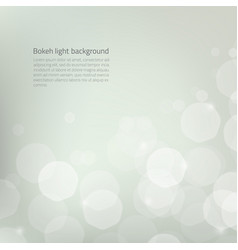 Abstract background with silver glow bokeh - vector