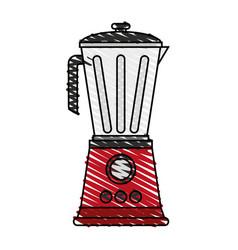 Color crayon stripe cartoon electronic device red vector