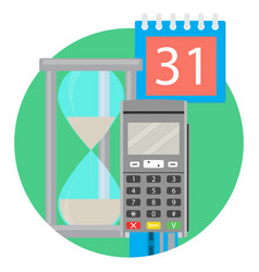 day time pay vector image