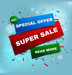 Sale banner template and special offer vector