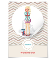 Happy womens day march 8 vector