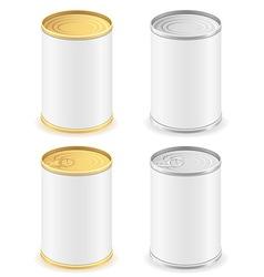 metal tin can 02 vector image
