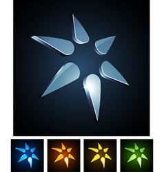 3d star emblems vector image vector image