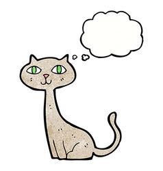 Cartoon cat with thought bubble vector