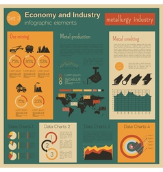 Economy and industry metallurgy industry vector