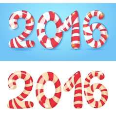 2016 new year numbers congratulations card vector