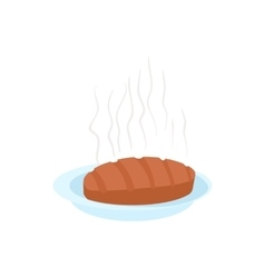 Steak icon in cartoon style vector