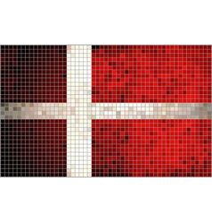 Abstract mosaic flag of denmark vector