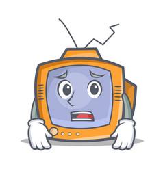 Afraid tv character cartoon object vector