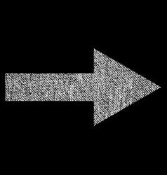 Arrow right fabric textured icon vector