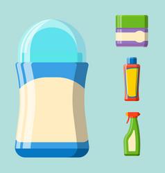 bath plastic bottle shampoo container shower flat vector image vector image
