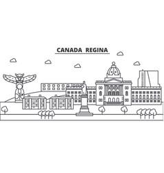 canada regina architecture line skyline vector image