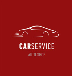car service logo template auto dealer shop emblem vector image