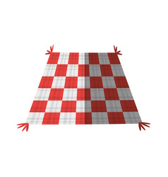 Checkered tablecloth picnic shadow vector