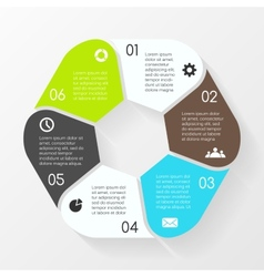 Circle hexagon infographic template for diagram vector