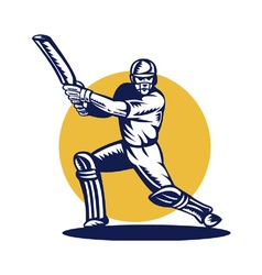 Cricket symbol vector