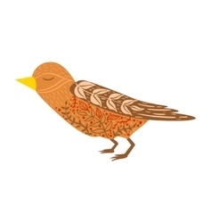 Cuckoo Bird Relaxed Cartoon Wild Animal With vector image