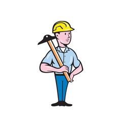 Engineer architect t-square cartoon vector