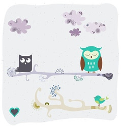Fashion owl graphic vector