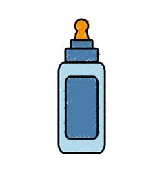 Glue bottle icon vector