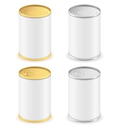metal tin can 02 vector image vector image