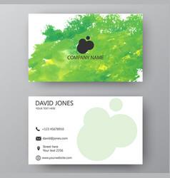 modern presentation card with company logo vector image vector image