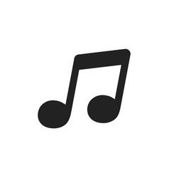 Music icon sound note vector
