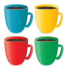 Photorealistic cups set vector