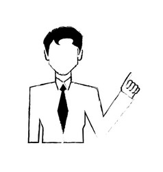 portrair male business character vector image