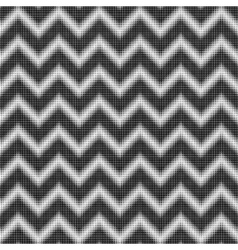 seamless halftone zigzag pattern vector image vector image
