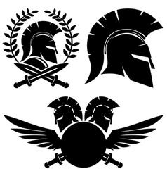 Spartan black signs vector