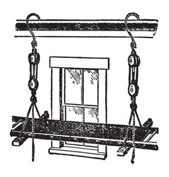 Swing scaffold vintage vector