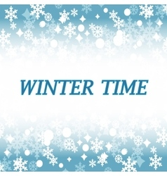 Winter time abstract backround vector