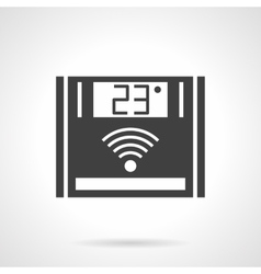 Electronic thermostat black design icon vector image